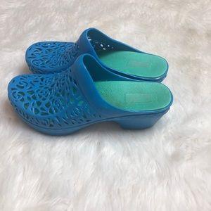 Dansko clogs size 38 blue plastic
